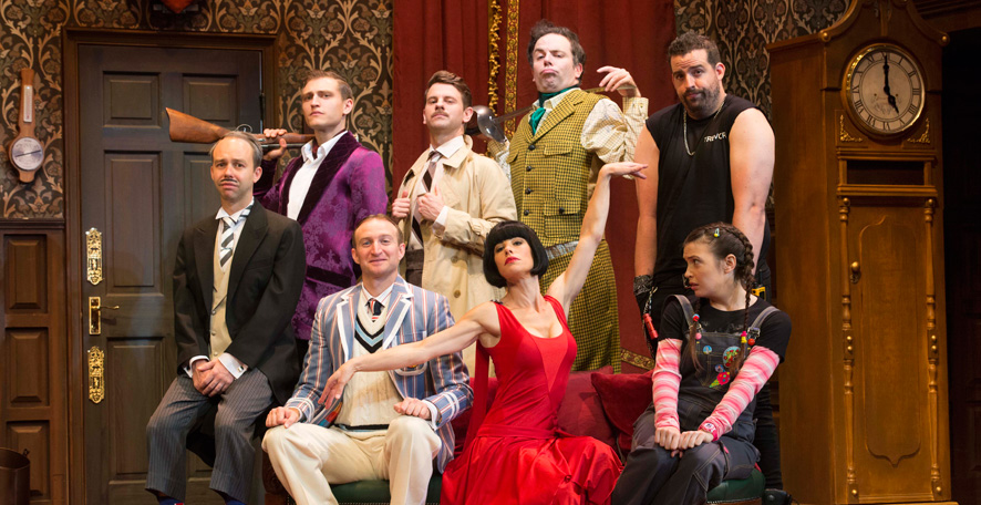The Play that Goes Wrong, Australia Tour 2017. Lighting by Ric Mountjoy